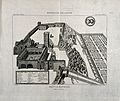 Bird's-eye view of the Abbaye de Montmajour with a key to id Wellcome V0012151.jpg