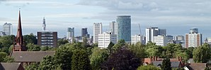 Birmingham - Image: Birmingham Skyline from Edgbaston crop