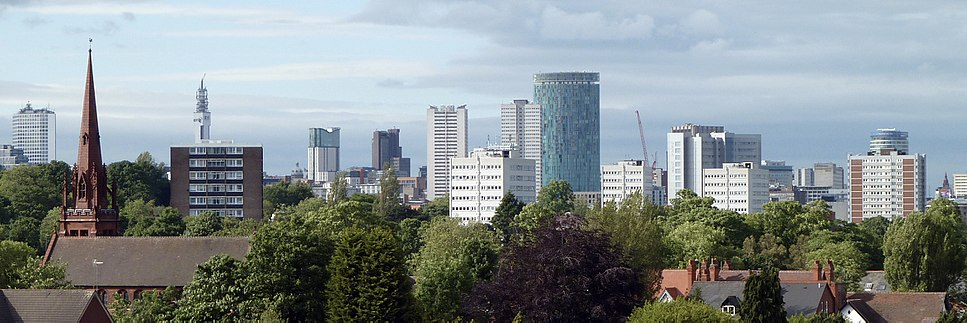 Birmingham City Centre from the south