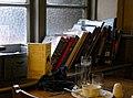 Black Horse Inn window book display, Nuthurst West Sussex England.jpg