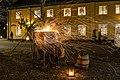 Blacksmith sparks Säter christmas market 2013.jpg