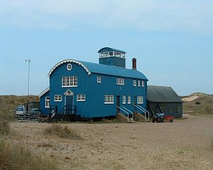 Blakeney Point - The visitor centre, formerly a lifeboat station