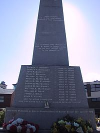 Memorial del Bloody Sunday a Derry