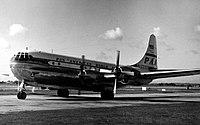 Boeing 377 N1033V PAA Heathrow 12.9.54.jpg