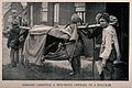 Boer War; Indians carrying a wounded soldier in a dhoolie. P Wellcome V0015530.jpg