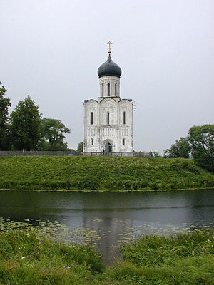 Architecture of Kievan Rus' - Church of the Intercession on the Nerl (1165), one of the most famous Russian medieval churches.