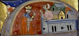 Siege of Antioch - A 13th-century depiction of Bohemond and Tancred from a manuscript in the care of the Bibliothèque nationale de France