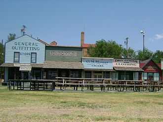 """Boot Hill Museum - Shops on the west end of the """"town"""" portion of the museum"""