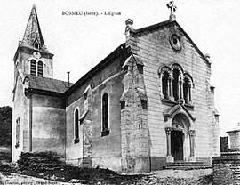 The church of Bossieu at the start of the 20th century