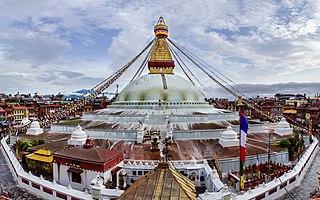 Boudhanath Buddhist stupa in Kathmandu, Nepal