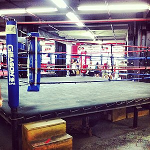 Gleason's Gym - Boxing ring at Gleason's Gym, 2012.