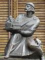 Boy with Statue of Yaroslav the Wise - Golden Gate - Kiev - Ukraine (29841093308).jpg