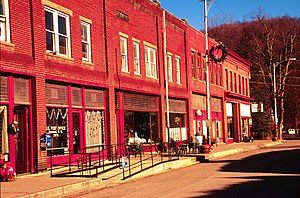 National Register of Historic Places listings in Mercer County, West Virginia - Image: Bramwell West Virginia main street