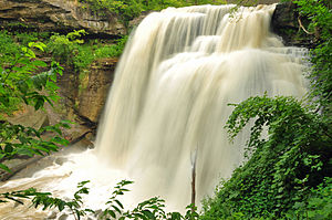 Brandywine Falls after a storm in the Cuyahoga...