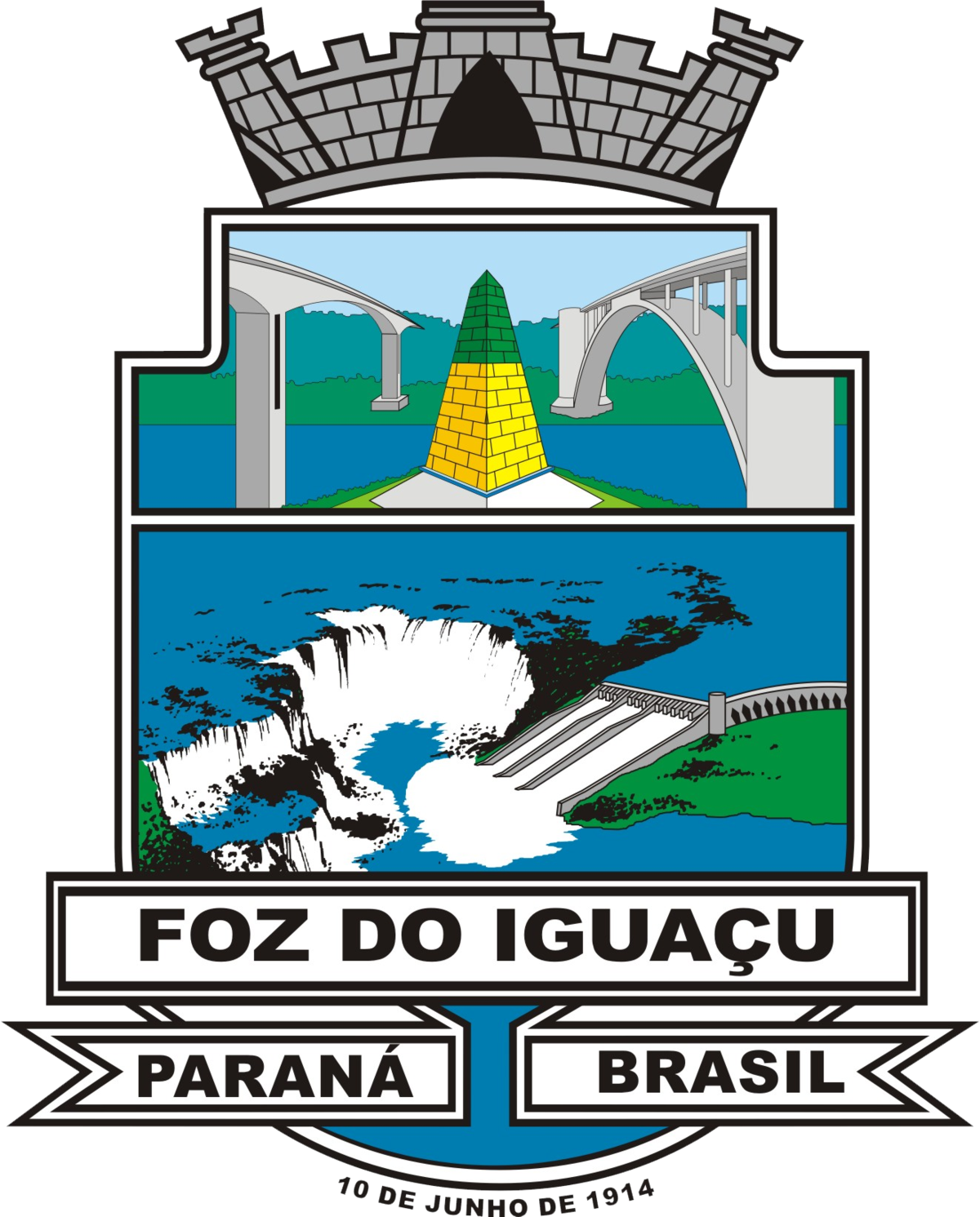 Resultado de imagem para brasão foz do iguaçu