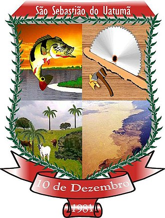 São Sebastião do Uatumã - Image: Brasão de São Sebastião do Uatumã