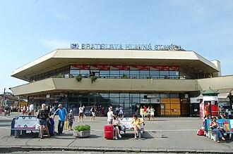 Bratislava hlavná stanica - View of the main entrance to the station