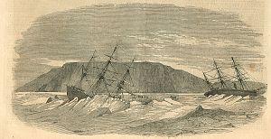 Breadalbane (ship) - The sinking of Breadalbane (left)