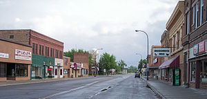 Breckenridge, Minnesota - 5th Street (U.S. Route 75) in downtown Breckenridge in 2007
