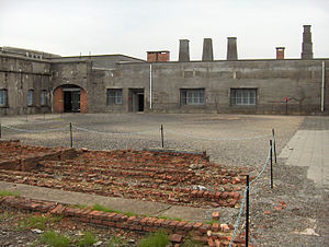 Fort Breendonk - View of Breendonk's courtyard where roll-calls were held