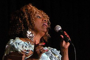 Brenda Holloway - Holloway performing at a memorial tribute for the founder of the Watts Summer Festival, Tommy Jacquette, on November 18, 2009