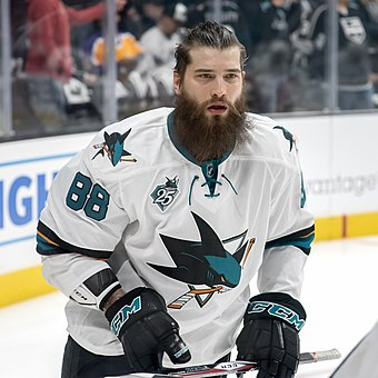 During the 2011 NHL Entry Draft the Sharks acquired Brent Burns through a trade with the Minnesota Wild. Brent Burns 2016.jpg