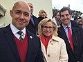 Brian Mast , Liz Cheney, and Scott Taylor at 2017 inauguration.jpg