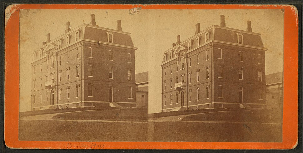 Brick Hall, Maine State College, Orono, from Robert N. Dennis collection of stereoscopic views