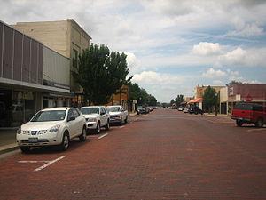Dalhart, Texas - Image: Brick streets of Dalhart, TX IMG 0556