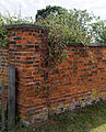 Brick wall on the B1051 road at Elsenham Essex England.jpg