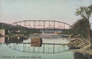Livermore Falls, Maine - Image: Bridge at Livermore Falls, ME