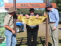 Brisbane Valley Rail Trail opening Esk 2009.JPG