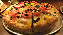 Bristol Farms Chicago Deep Dish veggie pizza.JPG