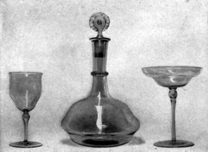 Glassware designed by T. G. Jackson: two drink...