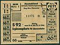 Britische Besatzungszone Deutschland Regierungsbezirk Hannover Lebensmittel-Ergänzungskarte für Schwerarbeiter Fett Fleisch S 92 1946-08-19.jpg