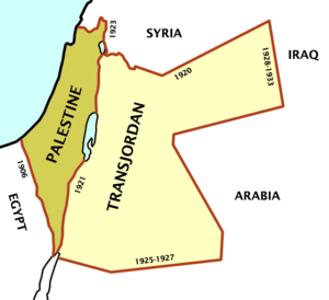 Revisionist Zionism - The region covered by the British Mandate for Palestine included the modern-day territories of Israel, the West Bank, Gaza and Jordan. The Mandate allowed the mandatory authority, Britain, to restrict Jewish settlement in parts of the territory. This was applied to Transjordan, to the east of the River Jordan. Revisionist Zionists believed this was illegitimate and demanded that the whole mandate territory, not just its western portion, should be part of a future Jewish state. After the establishment of Israel, they did not recognise the existence of Jordan and, as late as 1956, they rejected the possibility of peace.  But, after Israel acquired additional lands in 1967 following the Six Day War, by the 1970s, this group no longer questioned the legitimacy of Jordan.