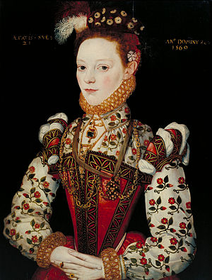 1549 in Sweden - A Young Lady Aged 21, possibly a portrait of Helena von Snakenborg, circa 1569.