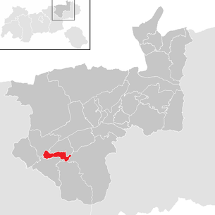 Location of the municipality of Brixlegg in the Kufstein district (clickable map)