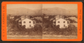 Bro. Kimball's residence. Wahsatch (Wasatch) Mts. in distance, from Robert N. Dennis collection of stereoscopic views.png