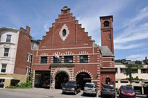 Fire Station No. 7 (Brookline, Massachusetts) - Image: Brookline MA Fire Station Number Seven