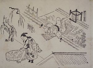 Okumura Masanobu - Image: Brooklyn Museum A Roofer's Precariousness Okumura Masanobu