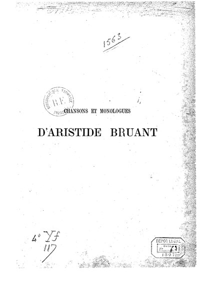 File:Bruant - Chansons et Monologues - Tome III.djvu