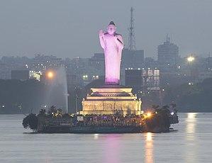 Buddha Statue of Hyderabad - Standing Buddha in abhya mudra