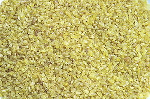 Uncooked bulgur wheat
