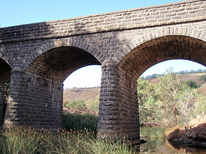 English: The historic Bulla Bridge, built 1869...