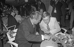 Spiegel affair - Rudolf Augstein (right) in 1970 with chancellor Willy Brandt