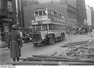 Berliner Verkehrsbetriebe - A Berlin bus during the strikes of 1932