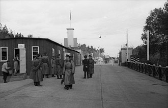 Helmstedt–Marienborn border crossing - Helmstedt–Marienborn from the Soviet Occupation Zone in 1949