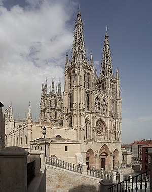 La catedral de Burgos de estilo Gótico