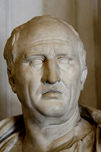 Cicero - A first century AD bust of Cicero in the Capitoline Museums, Rome